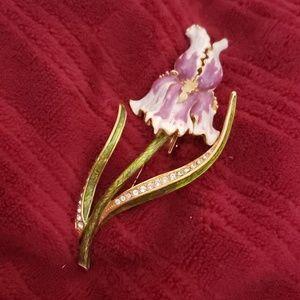 Beautiful Iris brooch/pin